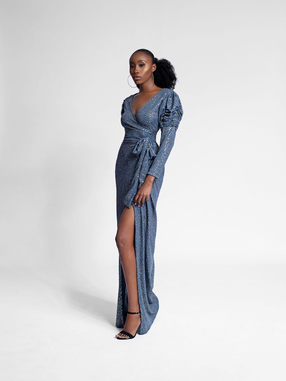 Bey Sleeve Maxi Wrap Dress