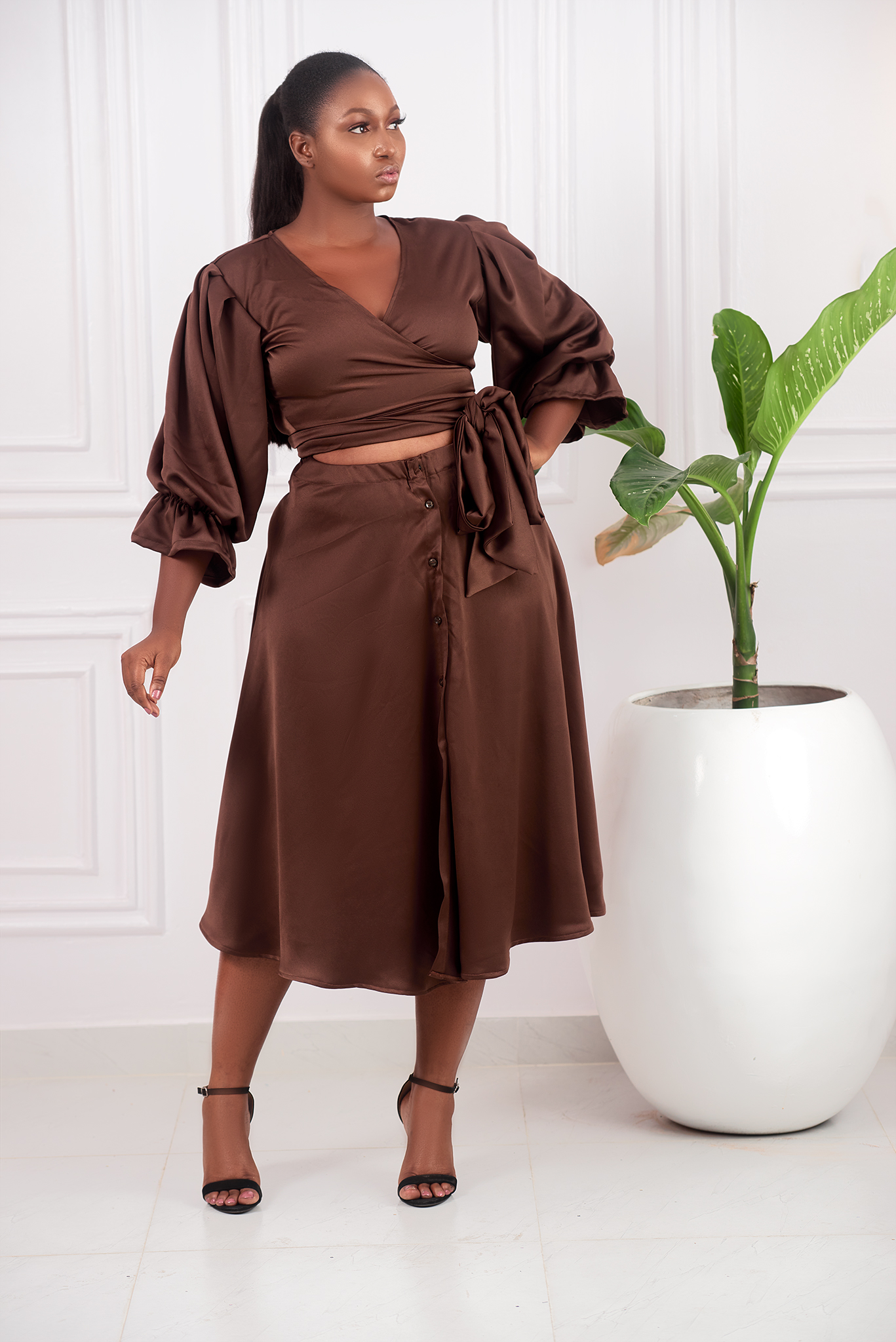 The 'Queen' Wrap Top Shirt Dress